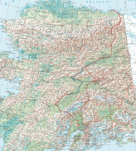 Nordpolarmeer Karte.No Limit Die Erste Nord Süddurchquerung Von Alaska Home
